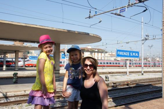 We staan op het station van Firenze (Florence)
